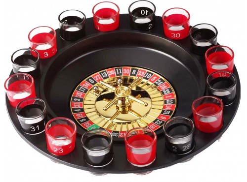 16 Shot Roulette Drinking Game Set
