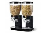 Double Cereal & Dry Food Dispenser (Black)