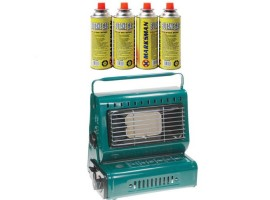 Gas Heater +  Butane Gas Canisters