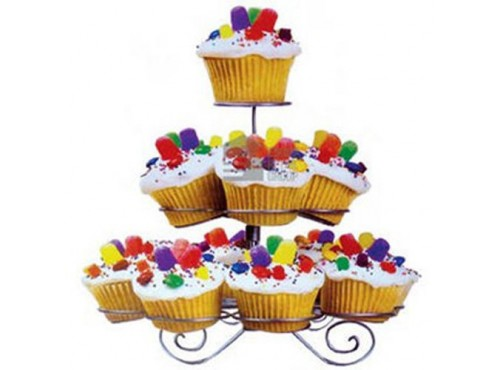3 Tier Metal Wire Cup Cake Stand