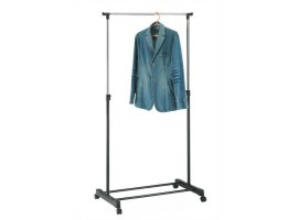 Single Clothes Coat Rail Garment Dress Hanging Display Stand On Wheels