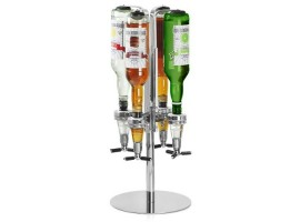 Rotary 4 Bottle Stand Drinks Dispenser