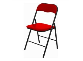 Quality Folding Faux Padded Chair