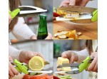 Clever Kitchen Cutter 6-in-1 Gadget - Smart Chopper Slicer Knife Scissors and Chopping Board With Sn