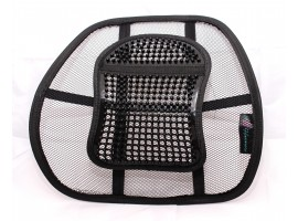 Chair Back Support System Sit Right with Elasticated Positioning Strap and Mesh Lumbar Grill Air Flo