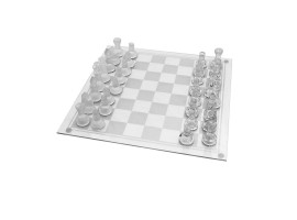 Traditional Glass Chess