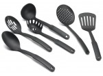 Precise 16pc Die Cast Non Stick Cookware Set with Glass Lid and Kitchen Utensil