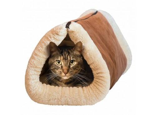 2 In 1 Thermal Self Heating Cat Tunnel and Mat Pet Bed