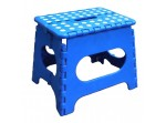 Easy Folding Multi Purpose Sturdy Step Stool For Home Kitchen Garage With Carry Handle (Blue)